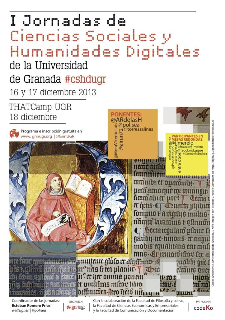 Cartel Jornadas de CSHD 2013