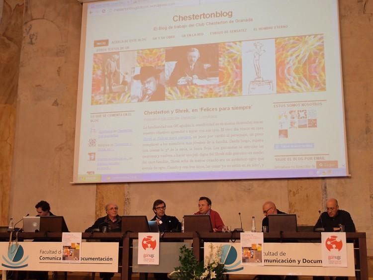Juan Carlos presenta Chesterton Blog en las Jornadas de Ciencias Sociales y Humanidades Digitales de la UGR (diciembre 2013)