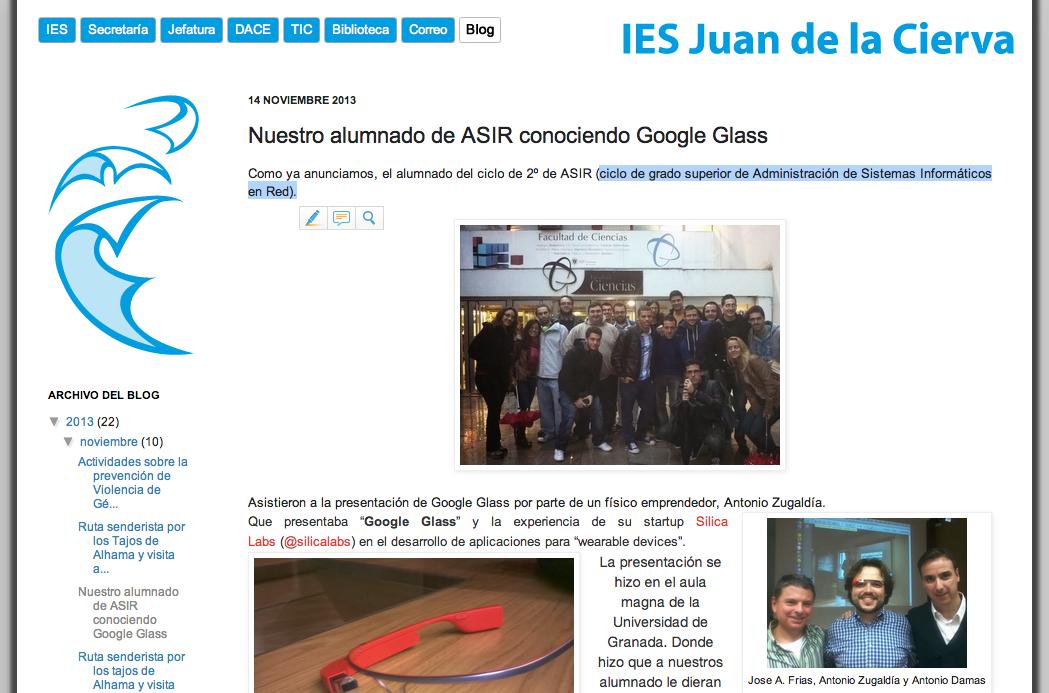 Google Glass Zugaldia