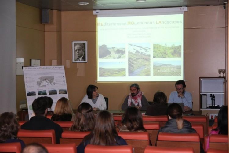 Jose Mª Martín Civantos hablando de las áreas de estudio del Proyecto MEMOLA