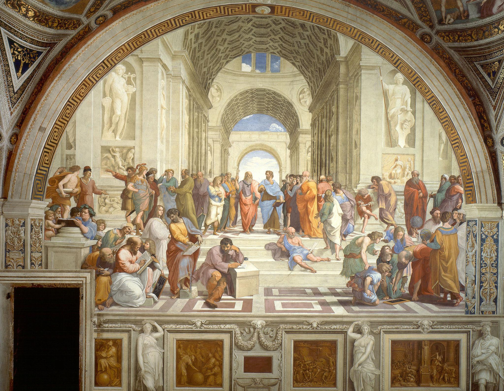 La escuela de Atenas. Rafael Sanzio