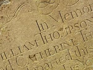Fine cut sandstone in St Multose's, Kinsale. Credits: Historic Graves Project.
